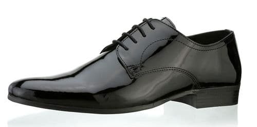 Red Tape Southhill Black Patent Shoes